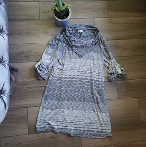 Max Studio Weekend knit shirt dress assymetrical L